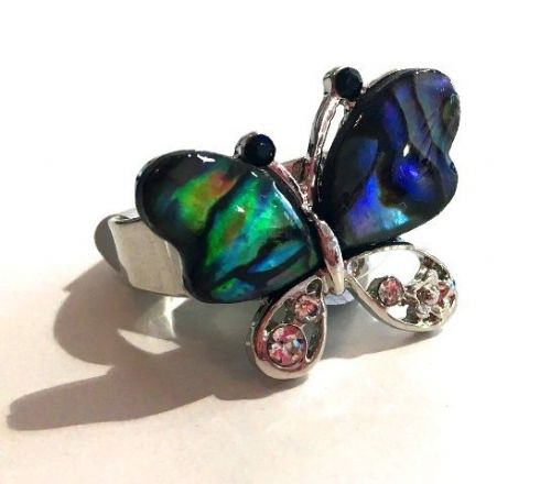 Ring - Butterfly Paua Shell Ring WAS £15